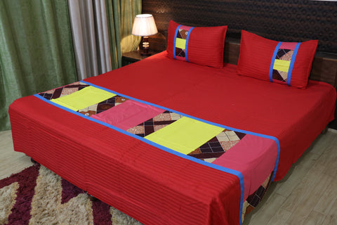 Fabby Decor Mix and Match Printed  Cotton King Size Double Bedsheet