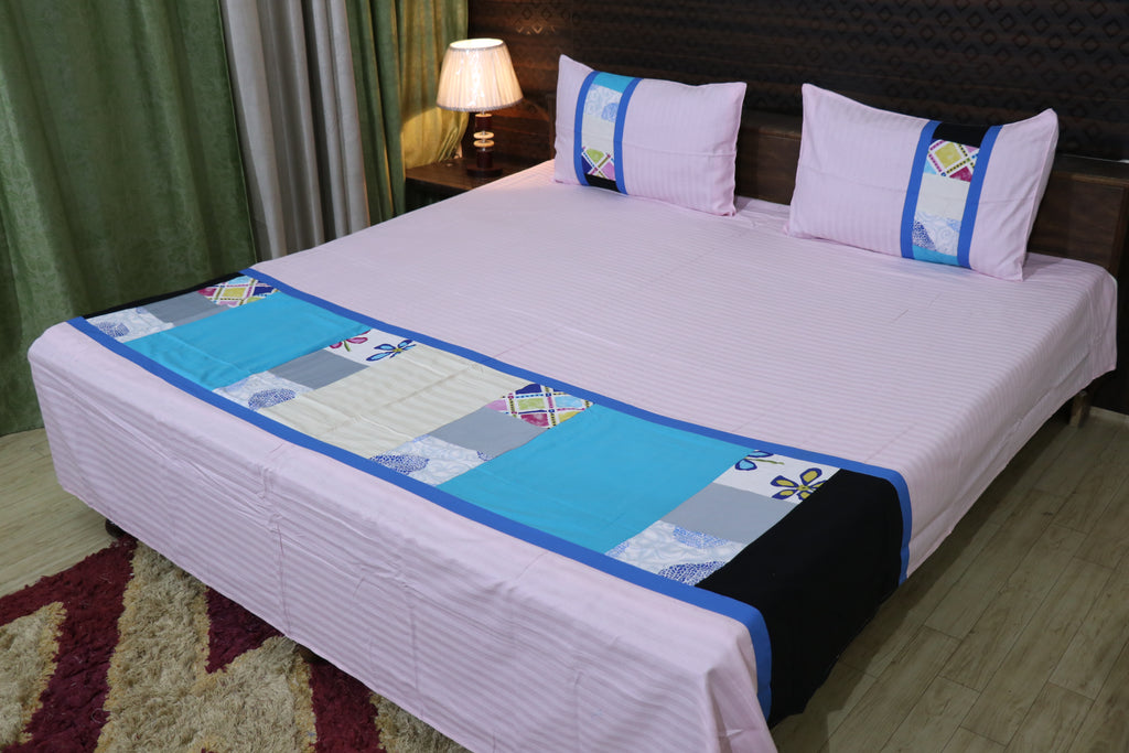 Fabby Decor designer Mix and Match Print Cotton Double Bedsheet