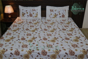 Fabby Home Lace Double Bed- Queen Size Bed Sheets