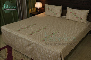 Fabby Royal Designer Embroidered  Bedsheet