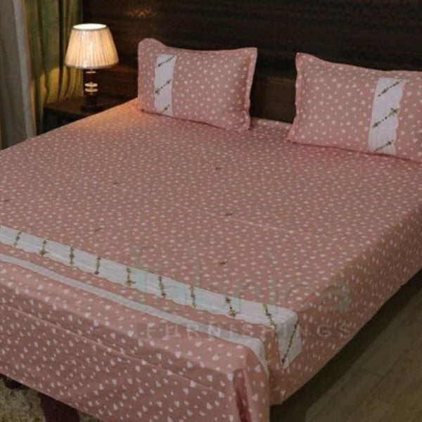 Decor Classic Embroider Cotton Designer Queen Size Bed Sheets