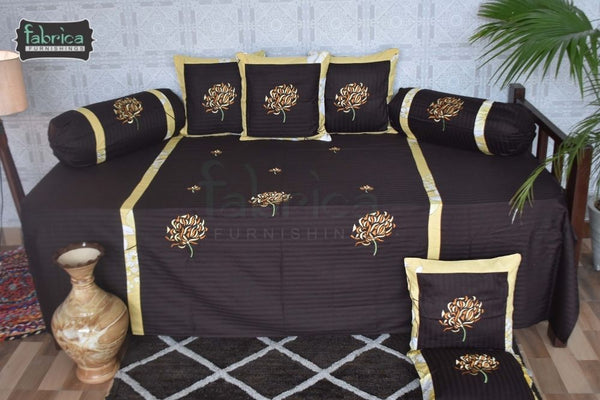 Fabby Decor classic Designer Embroider Cotton Deewan Set