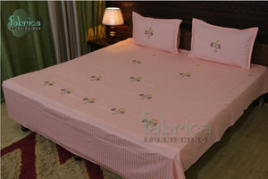 Fabby Home Designer Cotton Embroider Double Bedsheets