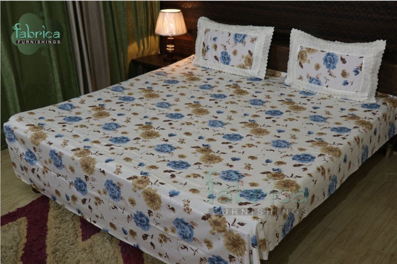 Fabby Home Lace Double Bed Queen Size Bed Sheets