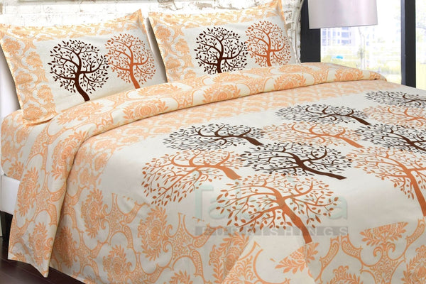 Fabby Floral Printed Cotton Designer King Size Bed Sheets