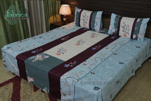 Decor Designer Mix & Match Embroider Kingsize Double Bedsheet