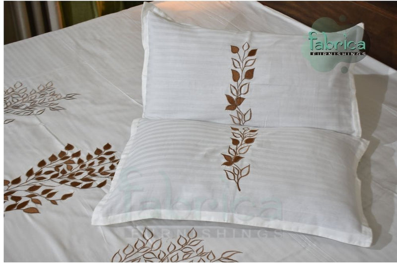 Fabby Home Designer Embroidered Double Bed king Size Bed Sheets