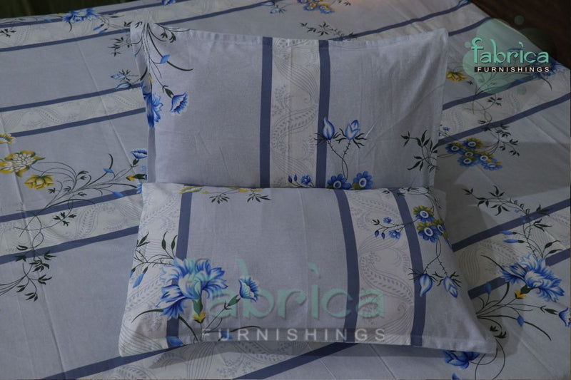 Fabby Decor Designer Print Cotton Queen Size Bed Sheets