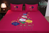 Home Designer Patchwork Embroider King Size Bed Sheets