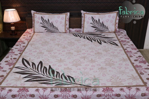 Fabby Decor Designer Print Cotton King Size Bed Sheets