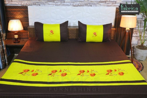 Decor Designer Embroidered Double king Size Bed Sheets