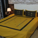 Fabby Home Designer Embroider King size Double Bedsheet