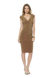 Faux Wrap Jersey Dress