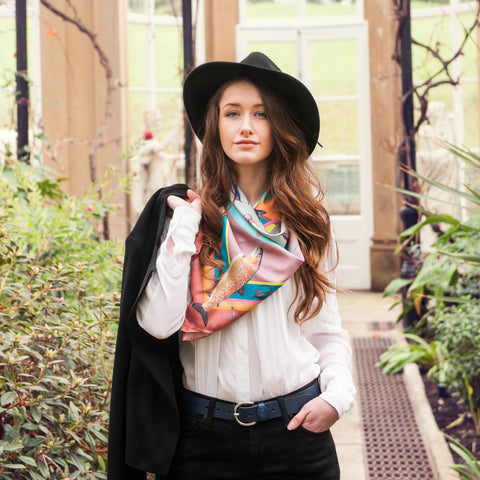 The Tay Silk Scarf - Dusk