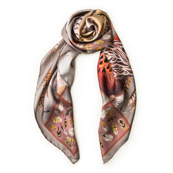 The Covey Silk Scarf - Harvest