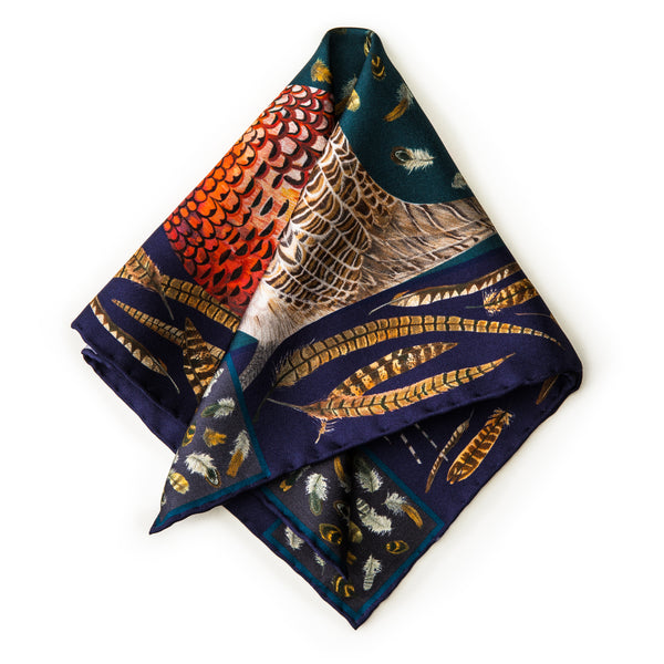 The Covey Pocket Square - Midnight
