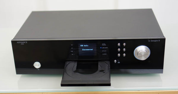 advance acoustic paris x-stream 9 compactdisc player cdplayer cd cdafspiller streaming universal dab+ wifi dac,musiklageret