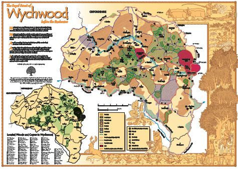'Wychwood Before the Enclosures' A2 Full Colour Map