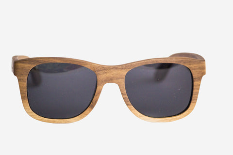 Vice-Roy Originals in Black Walnut. Black Polarized lenses. Main Image.