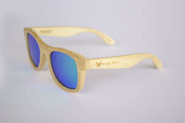 Vice Roy Birdwing Australis. Bamboo with Revo Green Polarized lenses.  Front Left Oblique