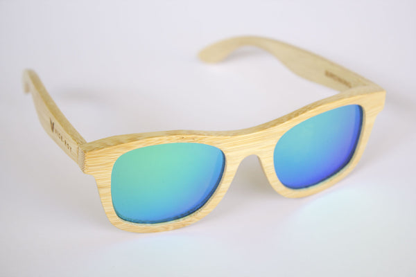 Vice Roy Birdwing Australis. Bamboo with Revo Green Polarized lenses.  Front High Right Oblique.