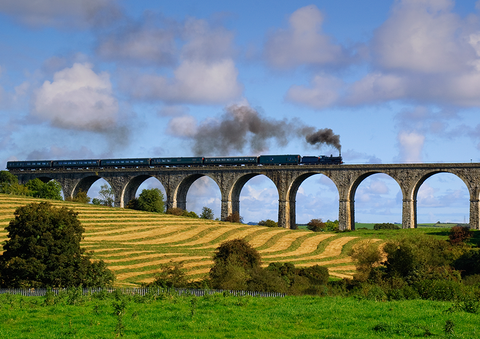 Steaming over Craigmore Viaduct, Bessbrook