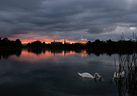 Lurgan Park at Sunset