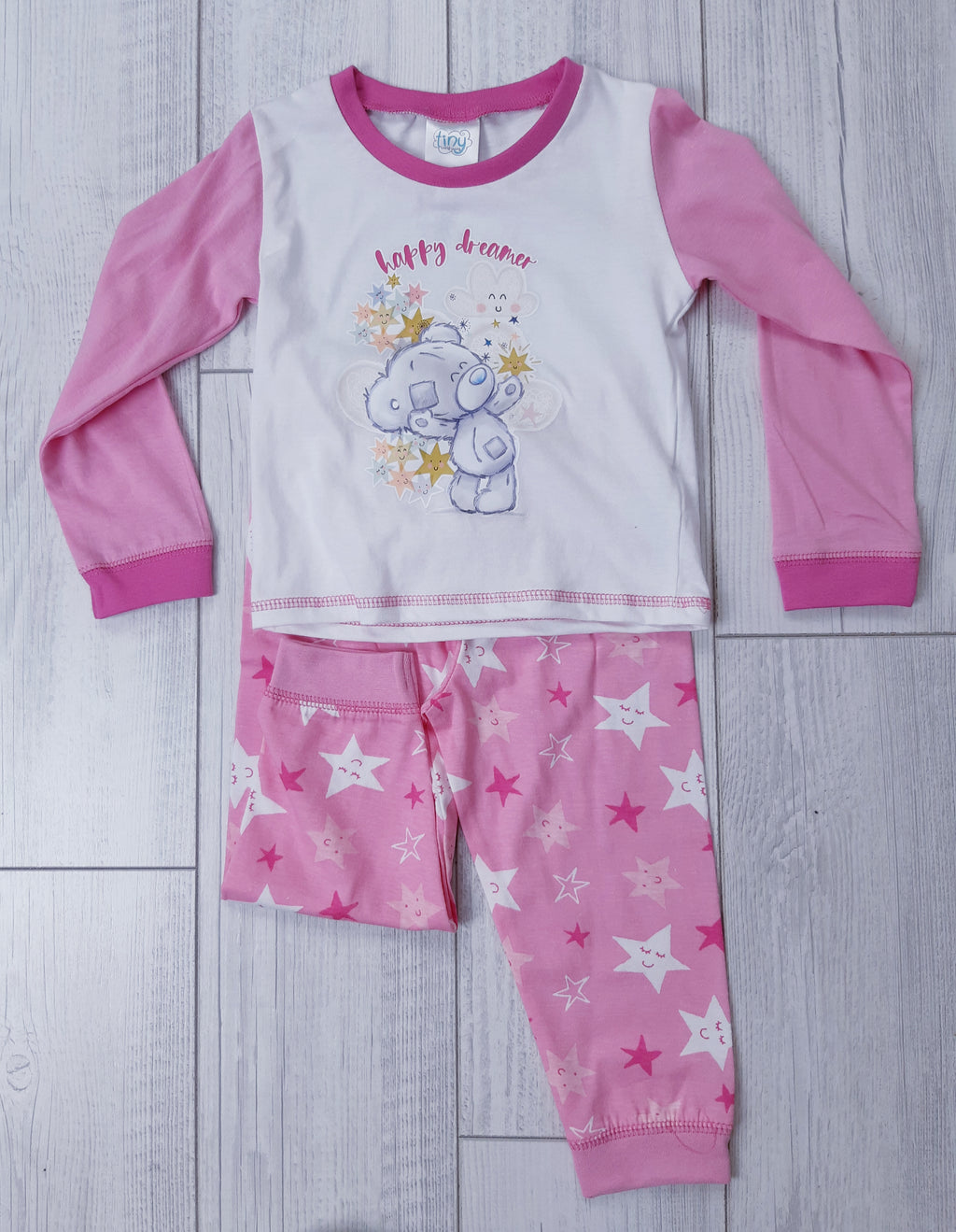 Baby Girl Teddy PJ Set