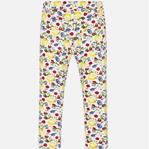 Girl floral skinny trousers