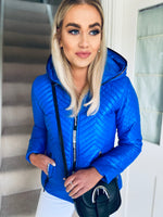 Whitley Hooded Jacket Blue