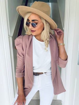 Sharlice Blazer Dusty Pink