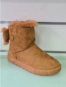 Slipper boots Camel