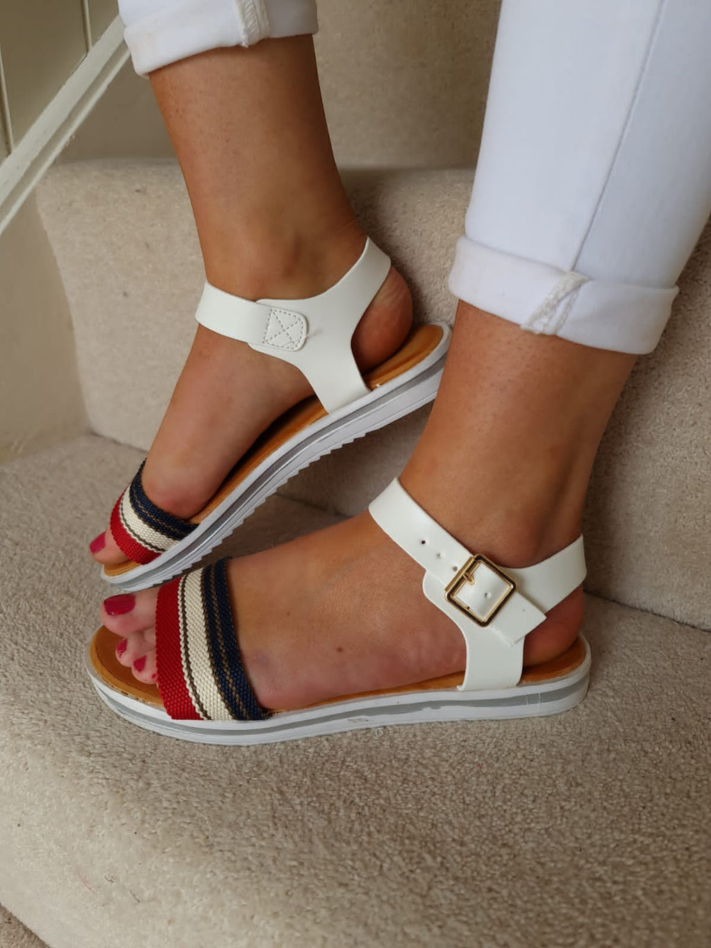 Hilly Sandals White