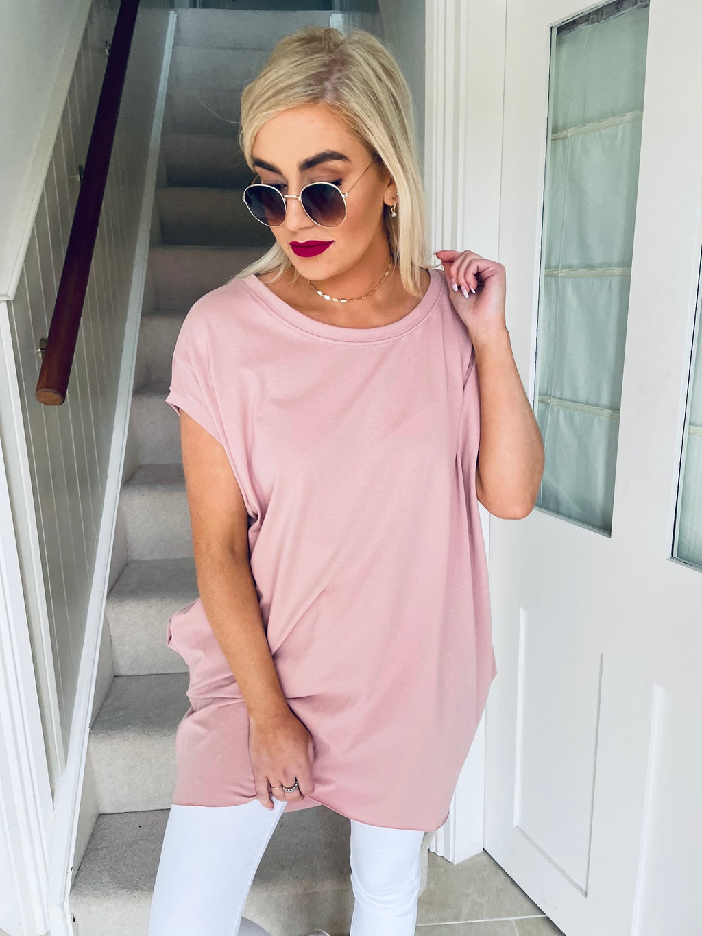 Claire Top Dusty Pink