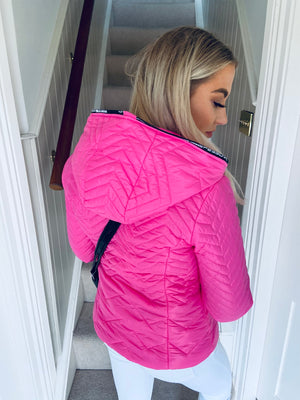 Whitley Hooded Jacket Pink