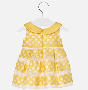 Baby girl yellow polka dot dress