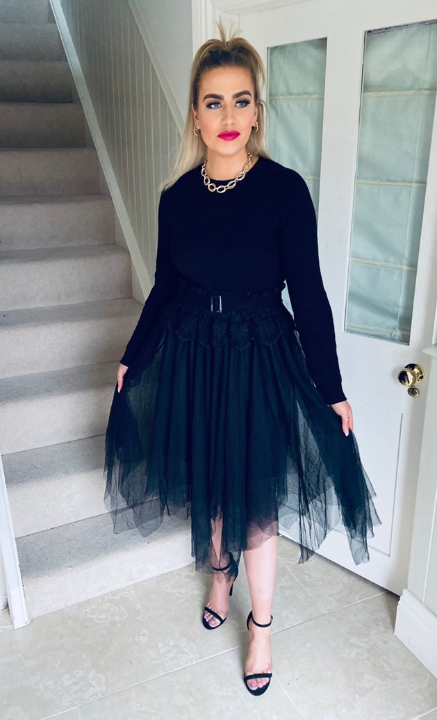 Sara Ann Dress Black