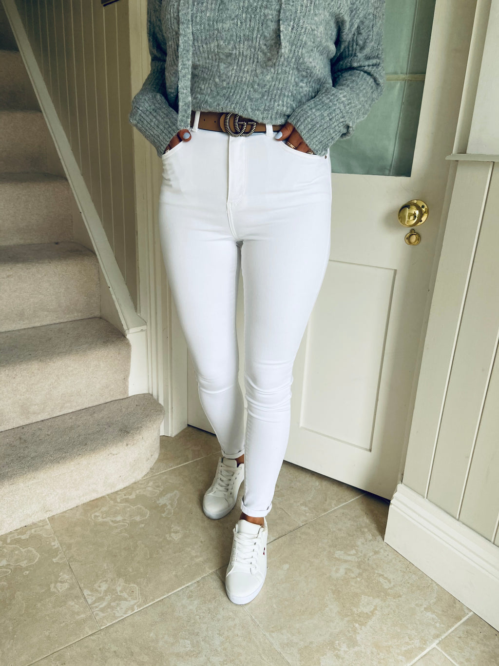 Hilary Jeans White