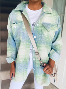 Marsha Shacket Blue/Green