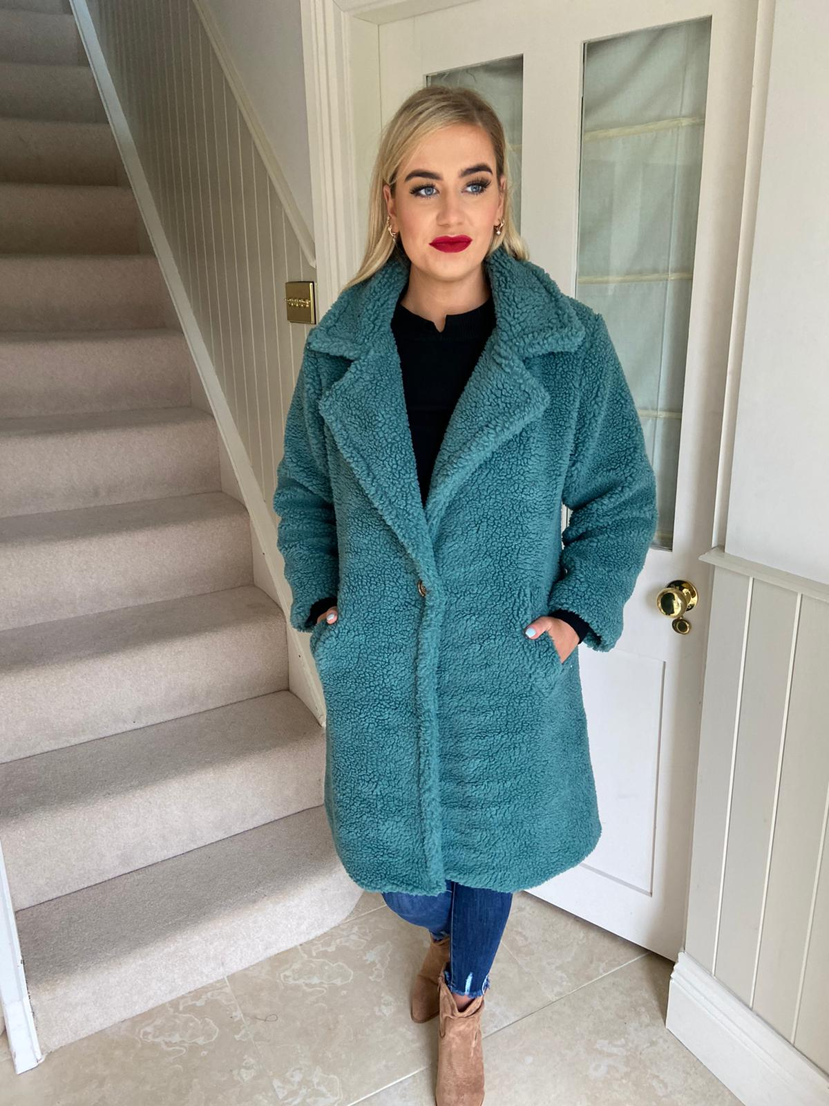 Ted Coat Teal PRE ORDER Arriving 30 Oct