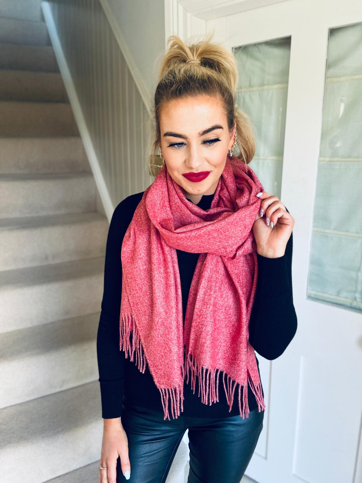 Solid Colour Scarf Ruby