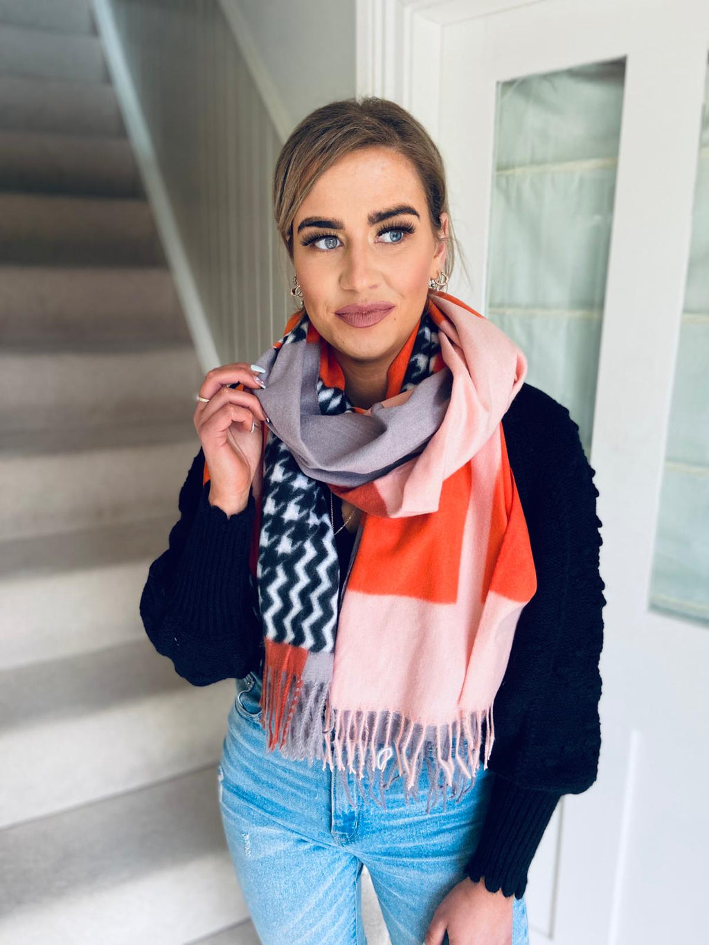 Patch Scarf Orange