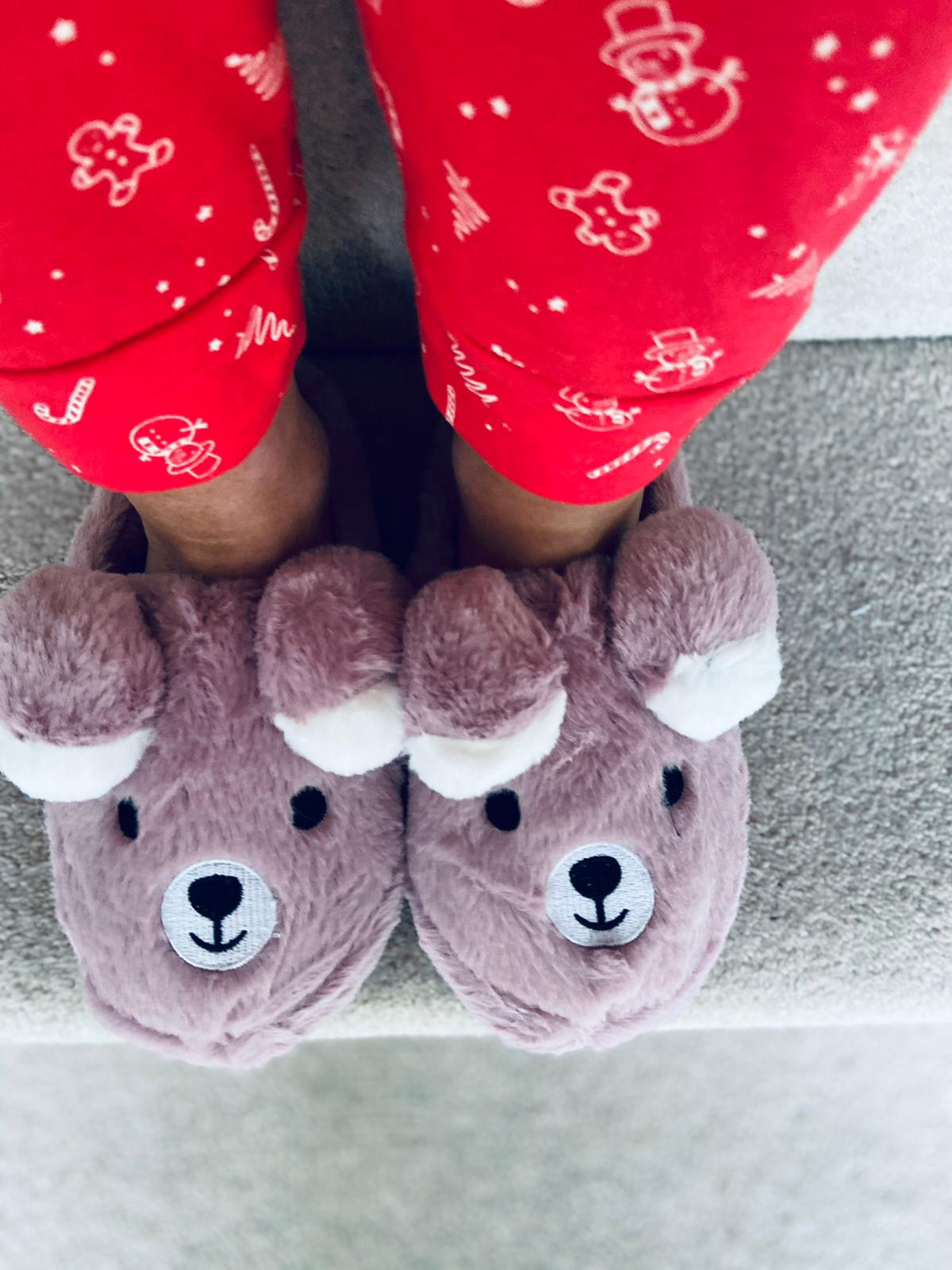 Teddy Slippers Blush
