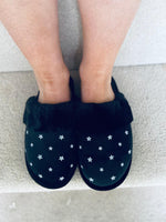 Star Slippers Black