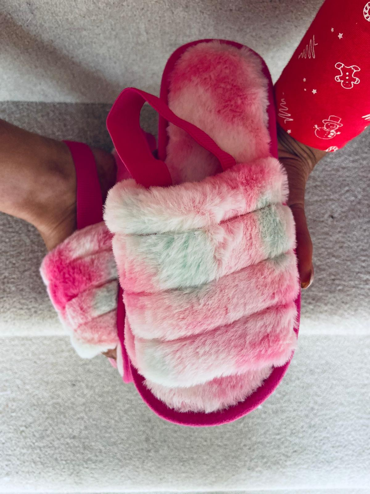 Tina Rose Tie Dye Slippers