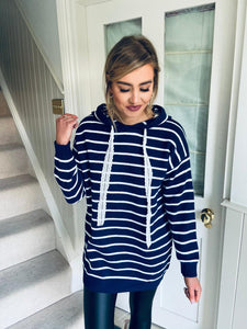 Skip Hooded Longline Navy