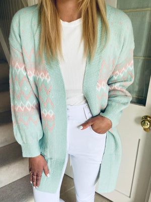 Nesa Cardigan Green