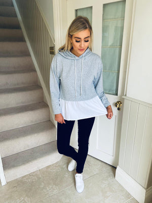 Jan Hooded Top Grey