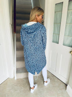 Ali Hooded Cardi Blue