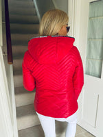 Whitley Hooded Jacket Red